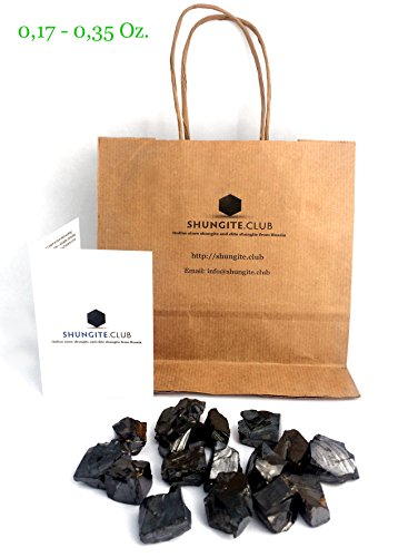 Shungite Club Elite Shungite Stone for Water & Jewelry Making  All Fraction (0.2 lb  L 0.17-0.35 Oz per Stone)