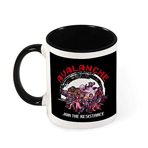 IUBBKI Avalanche Join The Resistance FinalVII Taza de caf de cermica Taza de t, regalo para mujeres, nias, esposa, mam, abuela, 11 oz