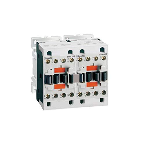 Teleinversor montado, enclavamiento mecánico externo, 9A, 4,2kW, AC3, 25A, AC1, 2 NC, 24V AC, 11,5 x 10,2 x 10,2 centímetros, color blanco (Referencia: BFA00942024)