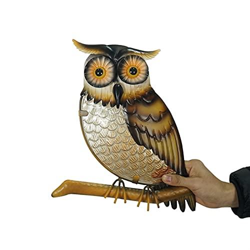 sknonr Decoración para el hogar Metal Owl Decoración de Ar