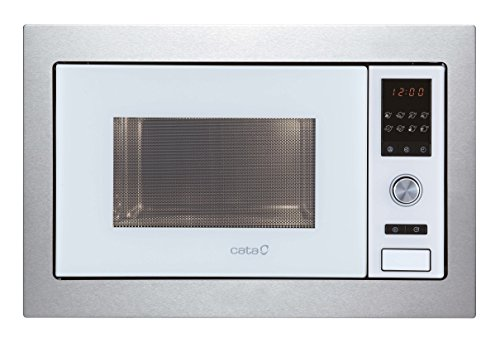 Cata Encastrable | MC 28 D WH 28 litros | 5 Niveles de Potencia | Microondas con Grill | Interior Acero Inoxidable | Color Blanco, 900 W