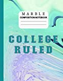 Marble Composition Notebook College Ruled: Note Taking Journal for Back to School, College, Office, Home; Suited for Daily Writing for Children, Students and Teachers or as a Gift; Marbled Green Cover