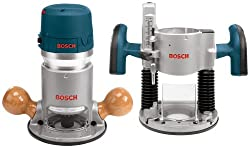 Bosch 1617EVSPK 12 Amp 2-1/4-Horsepower Plunge and Fixed Base Variable Speed Router Kit with 1/4-Inch and 1/2-Inch Collets - Power Routers