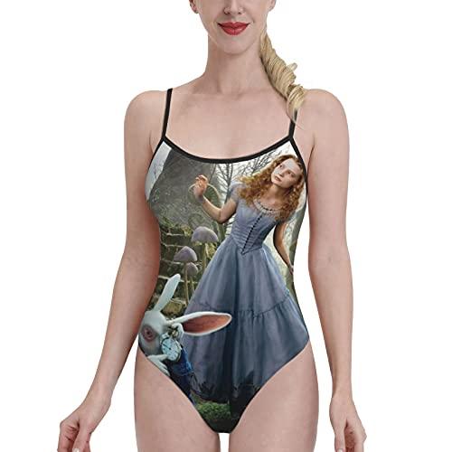 GONGYPND Traje de baño de buceo simple de corte bajo de pierna alta bikini de una sola pieza más tamaño correas delgadas sexy sin espalda cómoda nueva Sling moda y linda chica