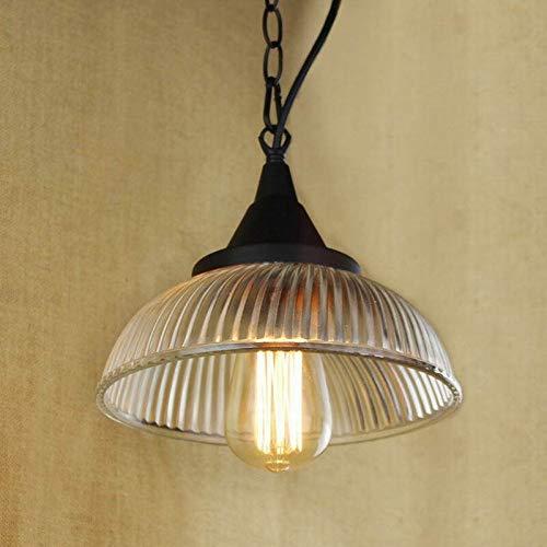 L.J.JZDY Araña Claro Que cuelga del Bulbo Copa de Cristal de la lámpara Pendiente con Edison Luz | Luces de la Cocina y el gabinete de iluminación Colgante Ligera