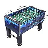 Futbolines Máquina Mesa para Adultos De 8 Polos Salón De Fiestas Doble Barra Arcade Familiar (Color : Blue, Size : 143 * 76 * 88cm)