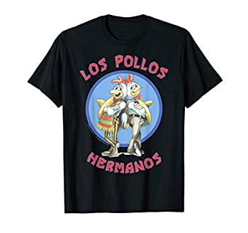 Breaking Bad Los Pollos Hermanos Back To Back Portrait Logo T-Shirt