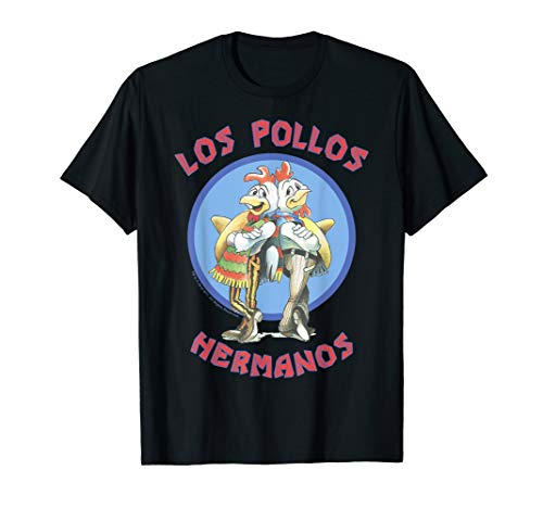 Breaking Bad Los Pollos Hermanos Back To Back Portrait Logo T-Shirt