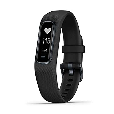 Garmin Vivosmart 4 Activity and Fitness Tracker with Pulse Ox and Heart Rate Monitor Midnight (Renewed)