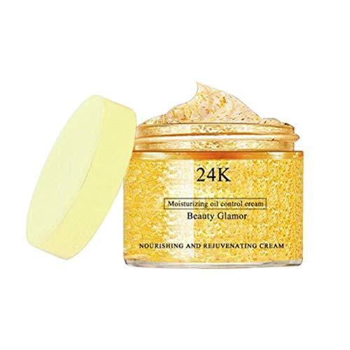 NANUNU Crema - 50g 24K Gold Facial Serum Reafirmante Blanqueamiento Cuidado de la Piel Crema hidratante Facial