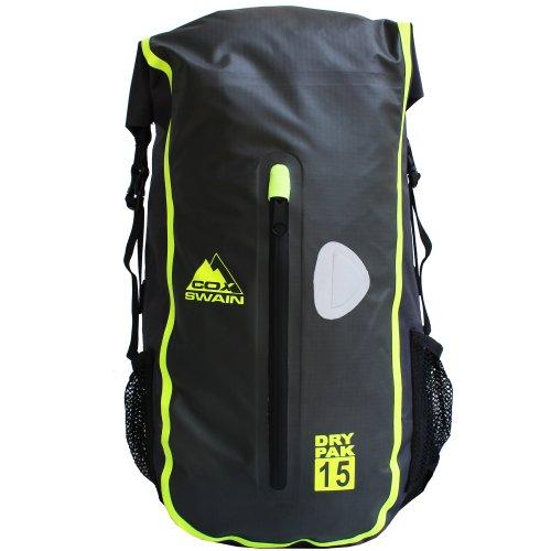 Cox Swain 15L super Leichter wasserdichter Outdoor Rucksack Packsack für Fahrrad, Wassersport etc, Colour: Grey