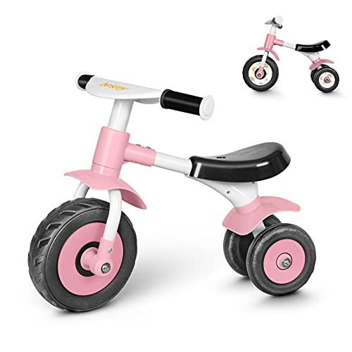 besrey Bicicleta sin Pedales 1 Año - 2 años,Bicicleta Bebe,Bicicleta sin Pedales Bebe,Bicicleta Equilibrio,Rosa