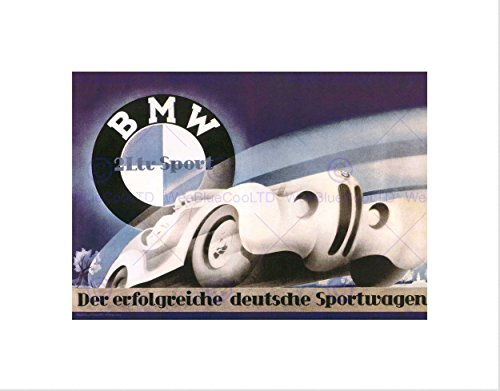 Wee Blue Coo Advertisement Bmw Sport Car Germans Picture Wall Art P