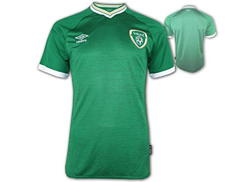 UMBRO Irland Heim Trikot 20-22 grün FAI Ireland Home Shirt Fan Jersey Eire, Größe:XXL