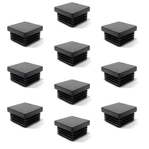 Design61 Lot de 10 bouchons de tubes carrés 30 x 30 mm avec lamelles pour dimensions intérieures 26-27 mm