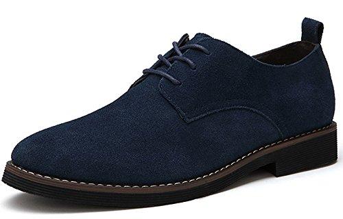 Bebete5858 Extra Especialmente Grande Tama?o 48 Hombres PU Ante Cuero de los Hombres Casual Zapatos Inglaterra Estilo