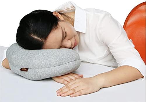 お昼寝枕 デスクピロー デスク ポータブル 多機能クッション オフィス枕 らくらく快適腕まくら うたた寝 昼寝 柔らかさ ネックピロー 背あて 腰当て デスクピロー うつぶせ仮眠枕 昼休み 枕 トラベルピロー(ダークグレー, Big)