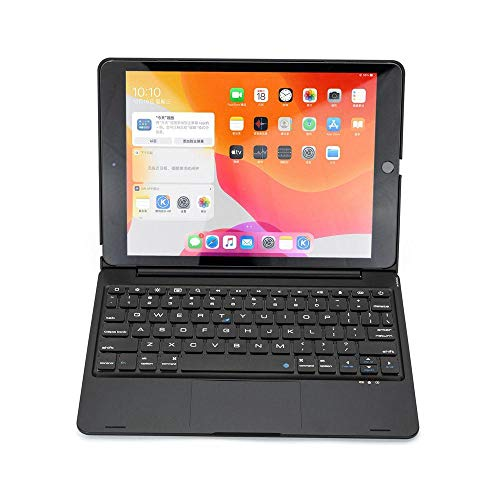Daluo Cover with keyboard Wireless Bluetooth Keyboard Case For Ipad Air 3 10.5 2019 Smart Folio Rgb Backlight Touchpad Keyboard Case Cover (Color : Black, Size : Air 3 10.5)