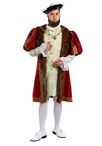 Adult Henry The VIII Costume Plus Size English King Costume 2X