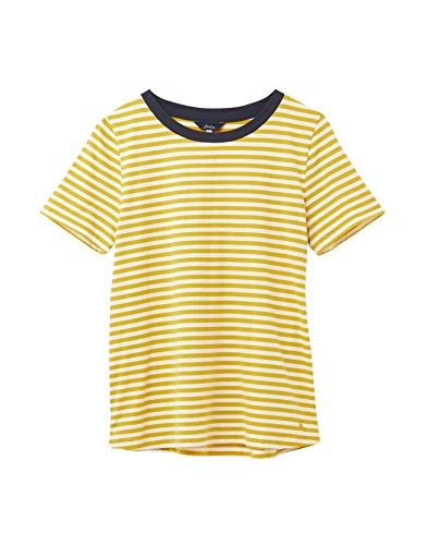 Joules Selma Clean Crew Met Pop Neck Trim - Antiek Goud Stripe: 10