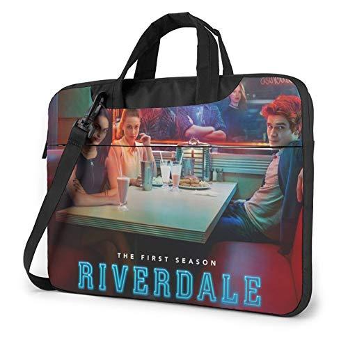 Ri_Ver_Dale 15.6 pulgadas portátil o tableta, tela elegante, duradera y repelente al agua, carga superior ligera, informal de negocios o escuela
