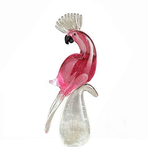 WICKER WEAVING Escultura de la Oficina Escultura Moderna Loro de Vidrio cristalino de la estatuilla de Mesa Decoración Artesanía Inicio, Oficina, Estantería