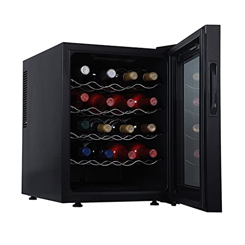 SHENXINCI Nevera para Vinos con Puerta Acristalada Vinoteca Independiente 20 Botellas, 48 litros De Capacidad, Temperatura Regulable 12-18℃, Panel Táctl, Display Digital, Luz LED, 55 W