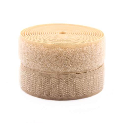 Gxbld-yy 3Meter / Pack 2 cm Bekleidungszubehör Nylon Kabel Krawatten Gepäckschuhe Haushaltsklebstoff Schnalle Gürtel DIY Handgemachte Materialien (Farbe : Apricot)