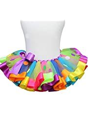 JJAIR Baby Ballet Tutu Falda, Redondo Color Tutu Falda en Capas de Tul Falda del tutú de la Falda de la Foto del cumpleaños con el Sombrero 3 Piezas,110