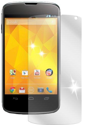 Ecultor I 6X Schutzfolie klar kompatibel mit LG Google Nexus 4 Folie Bildschirmschutzfolie
