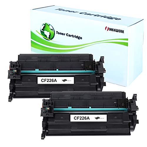 INK4WORK 2 Pack Compatible Toner Cartridge Replacement for HP CF226A / 26A for use with Laserjet Pro M402d M402dn M402dw M402n M426dw M426fdn M426fdw