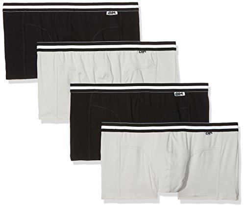 Dim Herren Eco Boxershorts, Grau (Noir/Gris/Noir/Gris 03n), XX-Large (Herstellergröße: 6) (4er Pack)