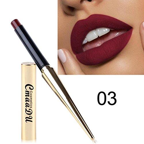 12 Farben Lippenstift Huihong Damen Wasserdicht Matt Kürbis Farbe Essen Erde Reich Vitamin E Neue Mode Lippenstift Lipgloss (03)