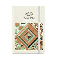 緑の菱形の幾何学的パターン クラシックノートブッククラシックジャーナル日記A 5