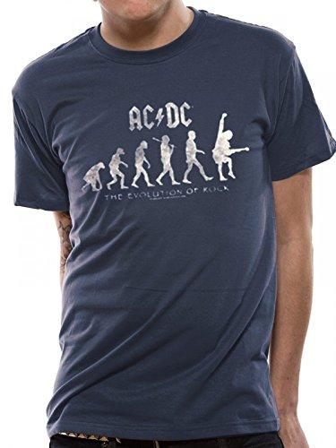 AC/DC Evolution of Rock T-Shirt stoneblue, GR.XL