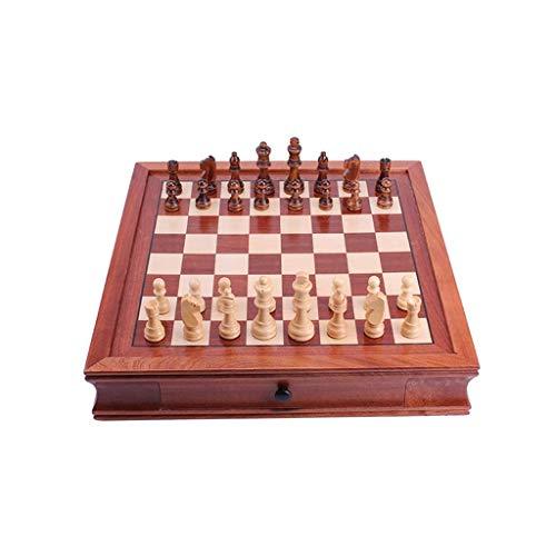 MAZ Juego de ajedrez magnético de madera para adultos y niños, juego de ajedrez de viaje para niños, juegos de mesa de ajedrez para regalo, grande