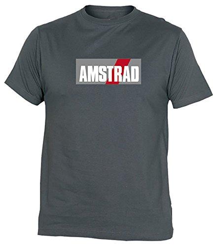 Desconocido Camiseta Amstrad Adulto/niño EGB ochenteras 80´s Retro (XL, Gris)