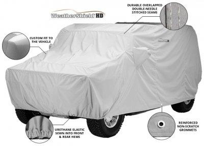 Covercraft Custom Fit Car Covers WeatherShield HD Gray Gray C18031HG