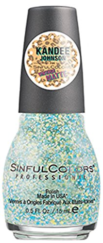 Sinful Colors Professional Nail Polish Kandee Johnson Vintage Matte Collection #2270 Kanfetti (Multi Colored Pastel Glitter)