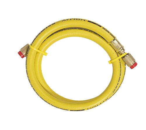 Appion MH380004AAY - 3/8' Dia. Hose, 4-foot, 1/4'FL to 1/4'FL Yellow