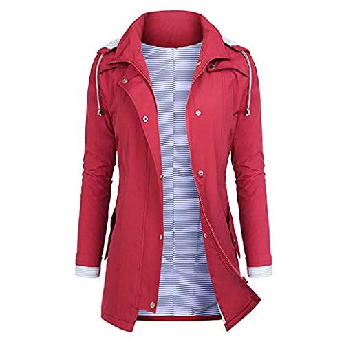 Xiangdanful Giacca impermeabile da donna, 100% impermeabile, traspirante, impermeabile, impermeabile, per viaggi, pioggia e pioggia, accessorio per uomo e donna, d, XXXL