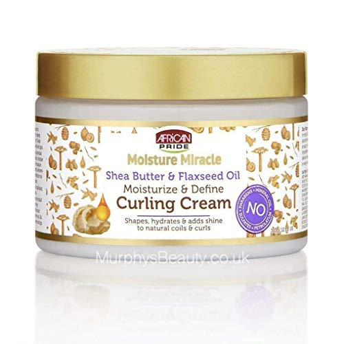 African Pride Moisture Miracle Shea Butter & Flaxseed Oil Moisturize & Define Curling Cream 12oz 340g Lockenpflegecreme