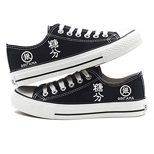 GMANKEE Shoes Anime Zapatillas Hombre Alpargatas Zapatos Mujer Casuales con Cordones Cómodas Zapatos para Mujer Zapatos para Caminar Unisex Gintama Anime Shoes 41