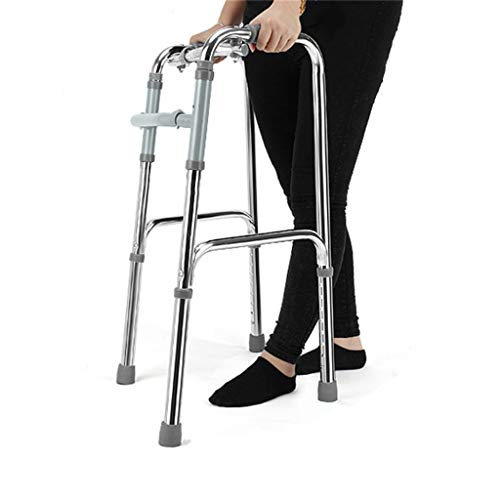 Ultra Narrow Walking Frame Adjustable Height Lightweight Aluminium Medical Walking Mobility Aid for Seniors Disabled