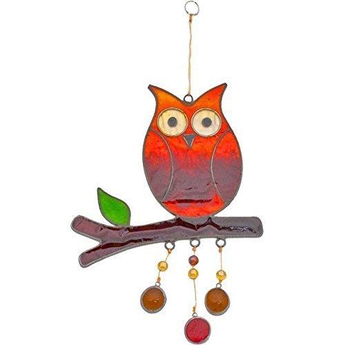 Hanging owl suncatcher