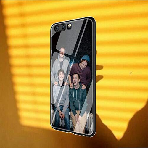 Krpvtkcuq Gehärtetes Glas Phone Hülle Case Shell Cover ednvsg TEMG11,for Huawei Honor 9 Lite