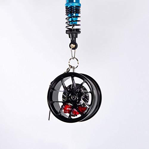 JISHUQICHEFUWU Geänderte Radnabe Rearview Spiegel Anhänger Auto Rad Ornamente High - End - Geschenke, schwarz