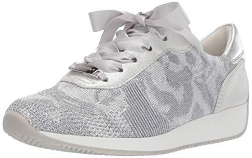 ARA Women's Lilly Sneaker, Silver Camo Woven, 7 M UK (9.5 US)