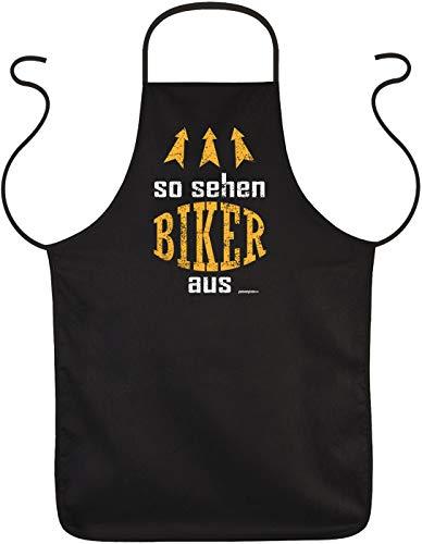 Biker Fun Grillschürze - Biker - ideales Biker-Geschenk, Goodman Design Schwarz