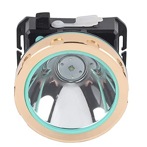 Demeras con Diadema elástica Impermeable 3 Modos Linterna Frontal Solar Brond Nuevo para Camping Pesca